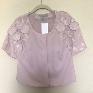 H&M Floral Shoulder Crop Top